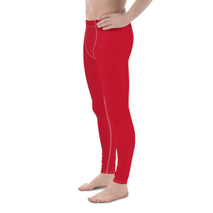Can't Stop Men's Workout Leggings (Red) - Tracy McCrackin Photography