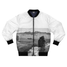 Load image into Gallery viewer, Iceland's Black Beach and Cliffs Bomber Jacket - Tracy McCrackin Photography