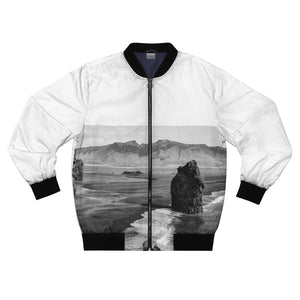 Iceland's Black Beach and Cliffs Bomber Jacket - Tracy McCrackin Photography