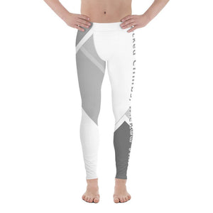 Wicked Climbs Men's Leggings (White/Grey) - Tracy McCrackin Photography