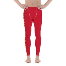 Load image into Gallery viewer, Wicked Lines Men's Leggings (Red) - Tracy McCrackin Photography