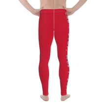 Load image into Gallery viewer, Can't Stop Men's Workout Leggings (Red) - Tracy McCrackin Photography