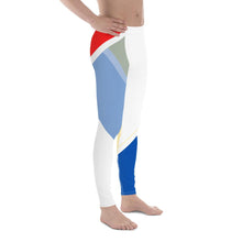 Load image into Gallery viewer, Vibrant Men's Leggings (Red/White/Blue) - Tracy McCrackin Photography