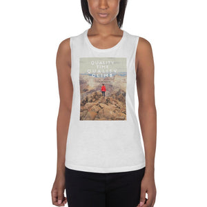 Quality Time Quality Climb Ladies' Muscle Tank - Tracy McCrackin Photography