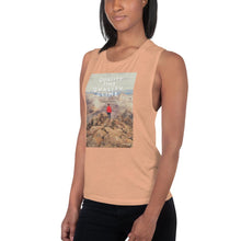 Load image into Gallery viewer, Quality Time Quality Climb Ladies' Muscle Tank - Tracy McCrackin Photography