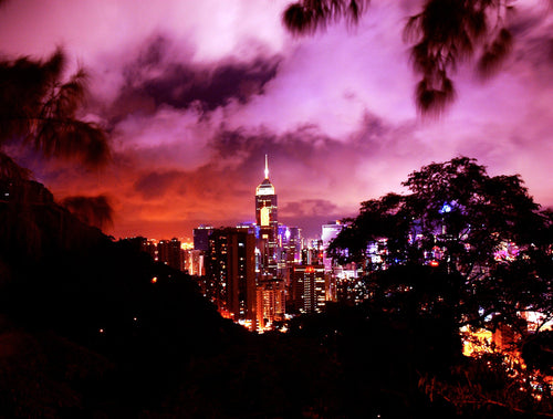 Hong Kong's Ruby City at Night Prints - Tracy McCrackin Photography