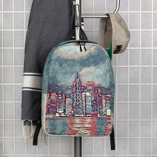 Graphic Art Cityscape Backpack - Tracy McCrackin Photography