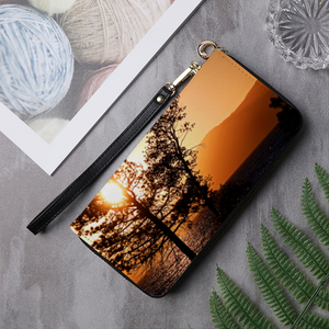 Lake Tahoe Leather Wallet Clutch Purse - Tracy McCrackin Photography