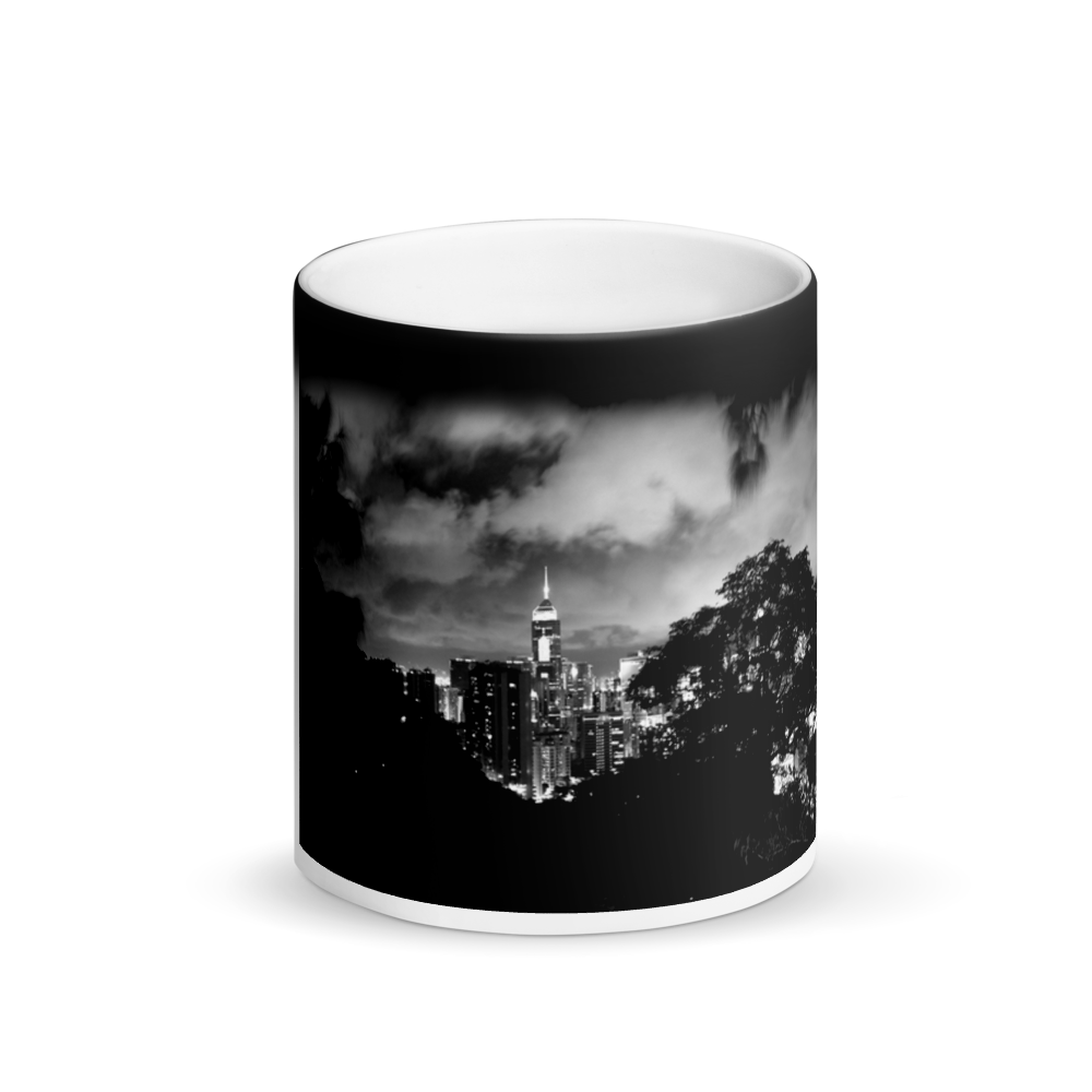 Hong Kong City Nightscape Black Magic Mug - Tracy McCrackin Photography