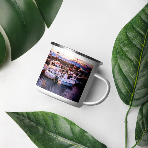Icelandic Harbor Enamel Mug - Tracy McCrackin Photography