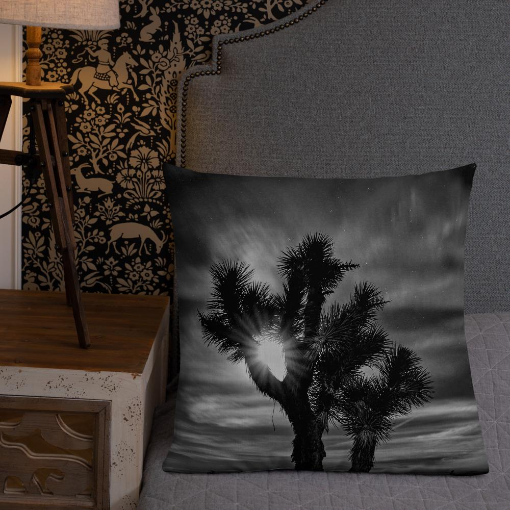 Joshua Tree BW Premium Pillow - Tracy McCrackin Photography