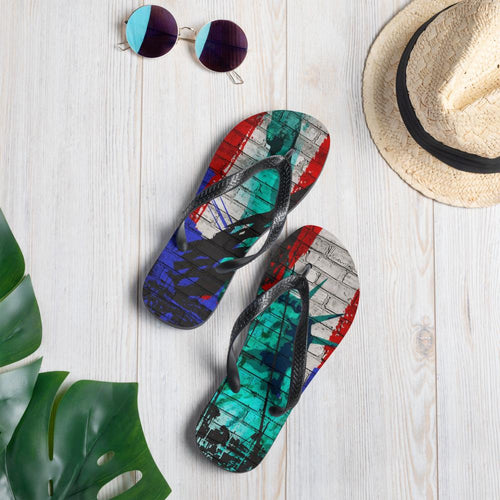 Liberty Graphic Art Flip-Flops - Tracy McCrackin Photography