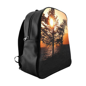 Lake Tahoe Mountain Sunset Utility Backpack - Tracy McCrackin Photography