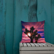 Load image into Gallery viewer, Joshua Tree Moonlit Sky Premium Pillow - Tracy McCrackin Photography