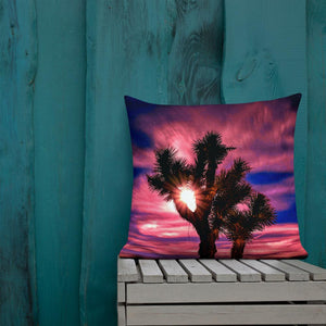 Joshua Tree Moonlit Sky Premium Pillow - Tracy McCrackin Photography