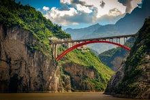 Load image into Gallery viewer, Red Bridge Of The Yangtze River - Tracy McCrackin Photography