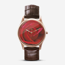 Load image into Gallery viewer, Red Rose Quartz Watch (Brown) - Tracy McCrackin Photography