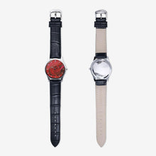 Load image into Gallery viewer, Red Rose Quartz Watch (Black) - Tracy McCrackin Photography