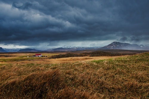 Storms Roll Over Grassy Iceland - Tracy McCrackin Photography