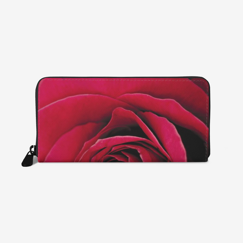 Vibrant Red Leather Wallet - Tracy McCrackin Photography