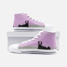 Load image into Gallery viewer, Sick SendsUnisex High Top Canvas Shoes (Pink/Grey) - Tracy McCrackin Photography