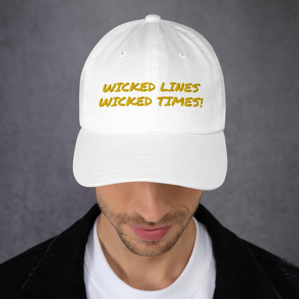 Wicked Lines Dad hat (Yellow) - Tracy McCrackin Photography