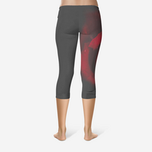 Load image into Gallery viewer, Red Rose Capri Leggings - Tracy McCrackin Photography