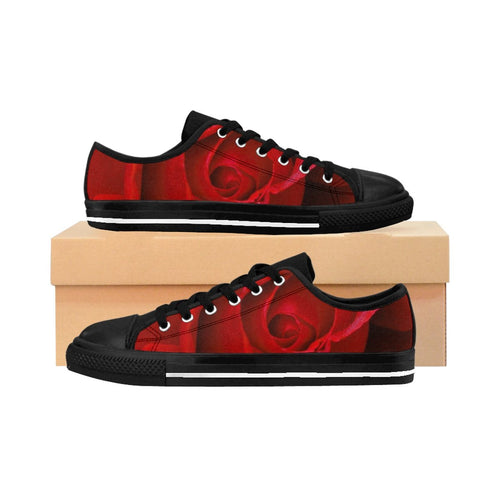 Beautiful Red Rose Women's Sneakers - Tracy McCrackin Photography