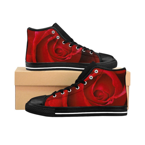 Custom Rose Women's High-top Sneakers - Tracy McCrackin Photography