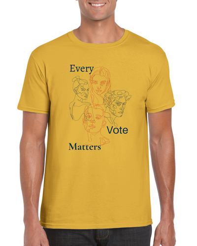 Every Vote Matters Graphic Unisex Crewneck T-shirt - Tracy McCrackin Photography