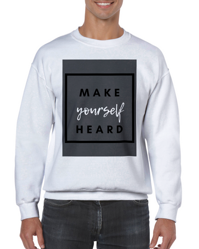 Make Yourself Heard Unisex Crewneck Sweatshirt - Tracy McCrackin Photography