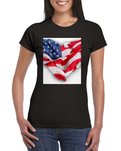 Love America Womens Crewneck T-shirt - Tracy McCrackin Photography