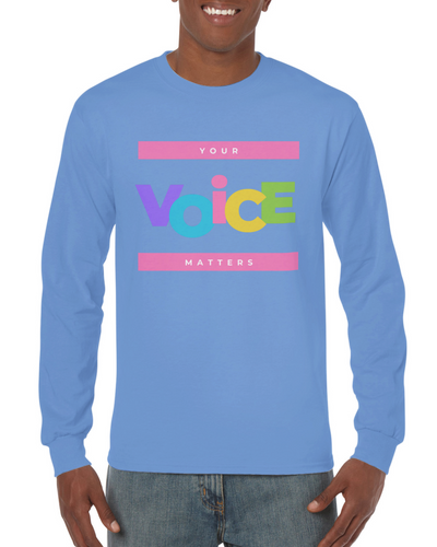 You're Voice Matter Unisex Longsleeve T-shirt - Tracy McCrackin Photography
