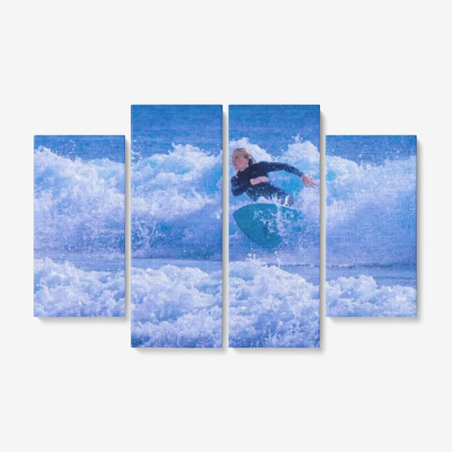 Soul Surfer - 4 Piece Canvas - Framed Ready to Hang 4x12
