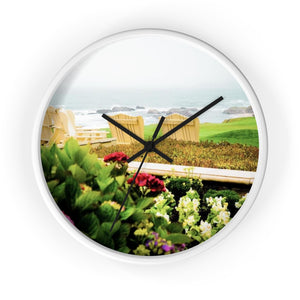 Beach Time Wall clock - Tracy McCrackin Photography