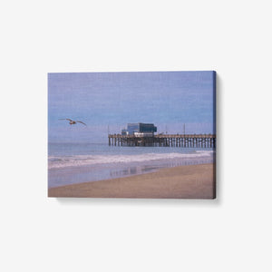 "Sea and Sand - 1 Piece Canvas Wall Art for Living Room - Framed Ready to Hang 24""x18"" - Tracy McCrackin Photography"