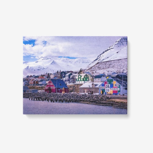 Arctic Harbor - 1 Piece Canvas Wall Art for Living Room - Framed Ready to Hang 24