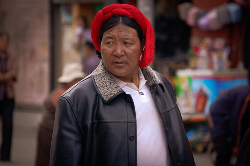 Tibetan Man - People In Tibet - Tracy McCrackin Photography