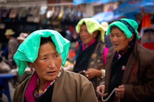 Tibetian People Wearing Scarves - Tracy McCrackin Photography