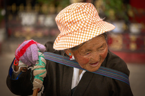 Elderly Tibetan Women - Most Famous Place - Tracy McCrackin Photography