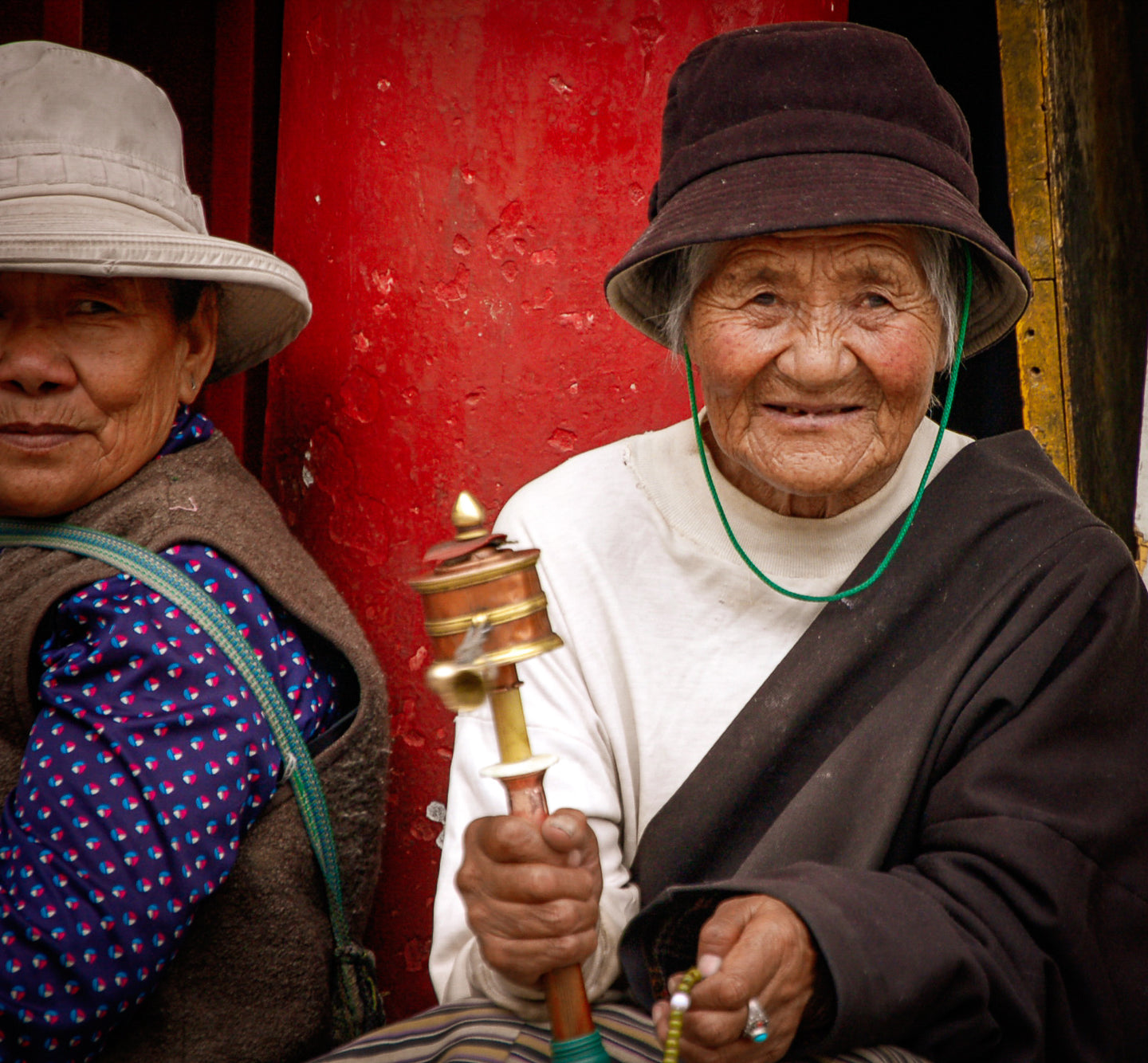 Prayer wheels in Tibet - Tracy McCrackin Photography