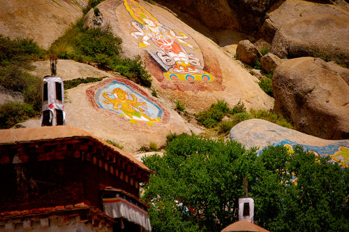 Tibetan Art on Rocks - A Beautiful Place To Go - Most Famous Place - Tracy McCrackin Photography