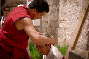 Monk Getting his Head Shaved - Tracy McCrackin Photography