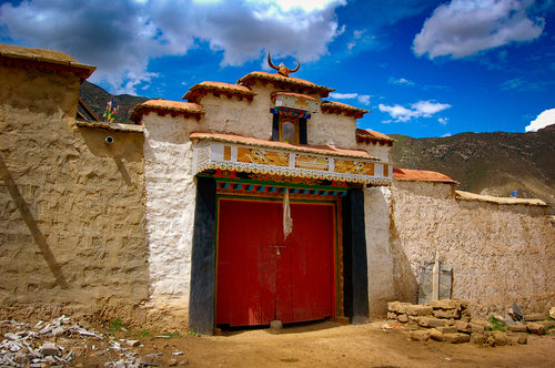 Front Door of Tibetan Home - Tracy McCrackin Photography