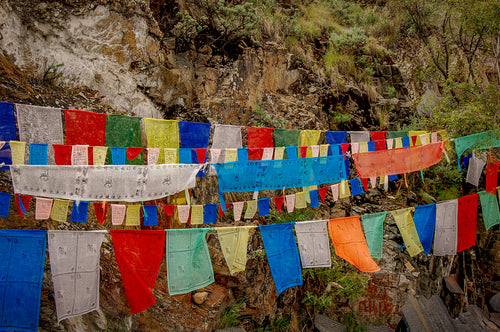 Tibetan Prayer Flags - Places In Tibet Lovely Place - Tracy McCrackin Photography