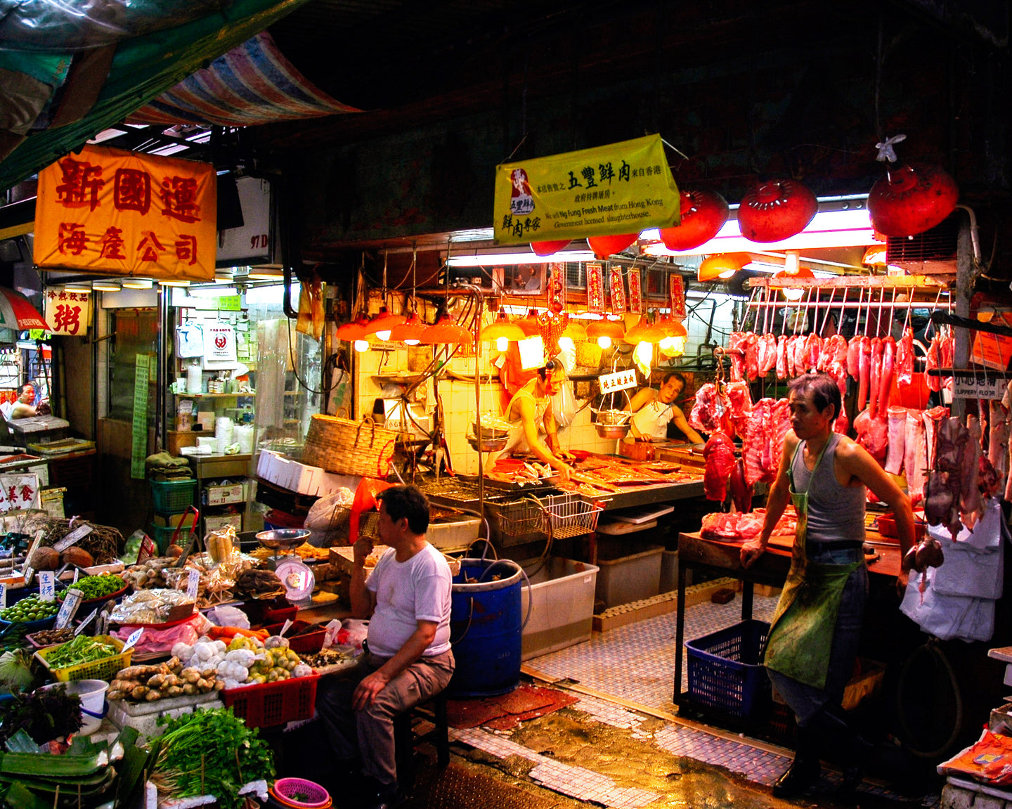 Hong Kong Meat Market at Night - Tracy McCrackin Photography