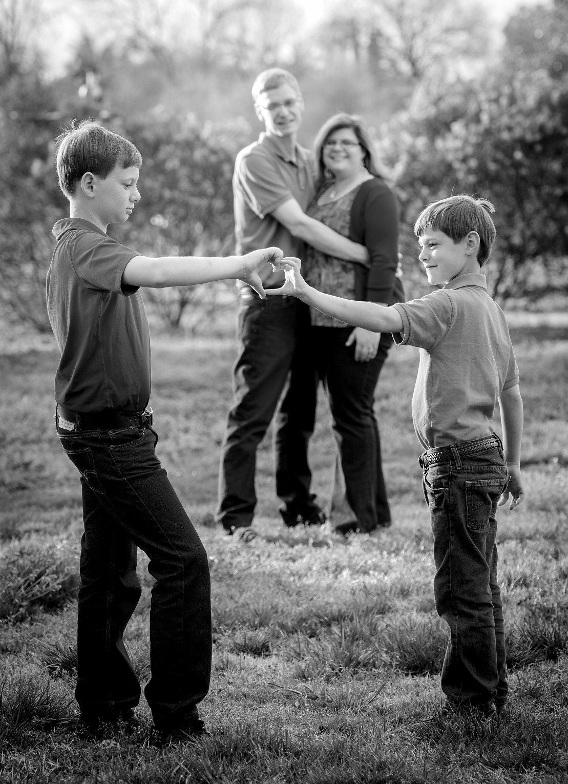 Brotherly Love with Heart Hands - Tracy McCrackin Photography
