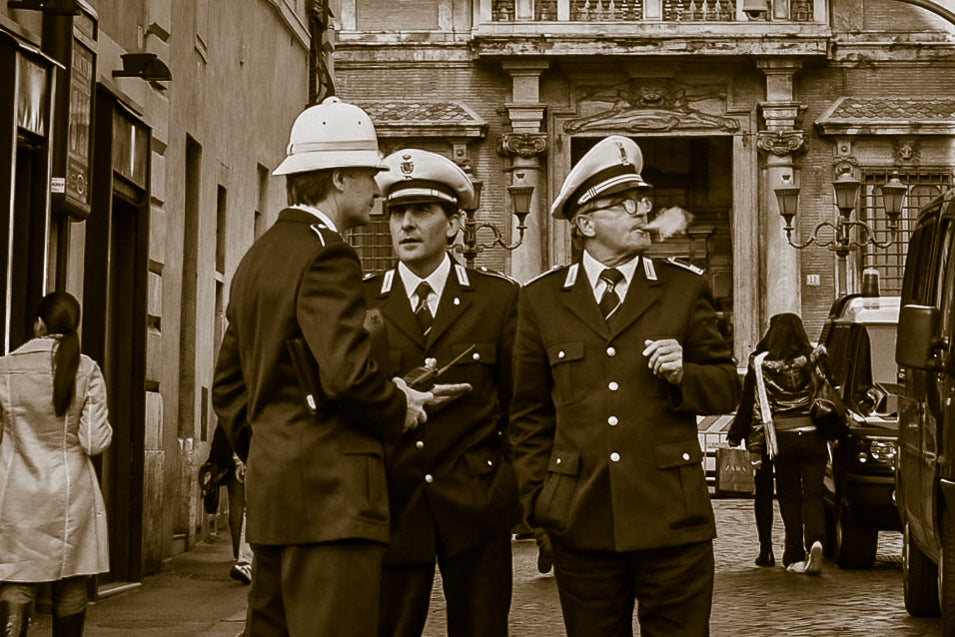 Smoking Officers 2 - Tracy McCrackin Photography