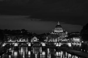 Sunset over the Tiber River in Rome - Tracy McCrackin Photography