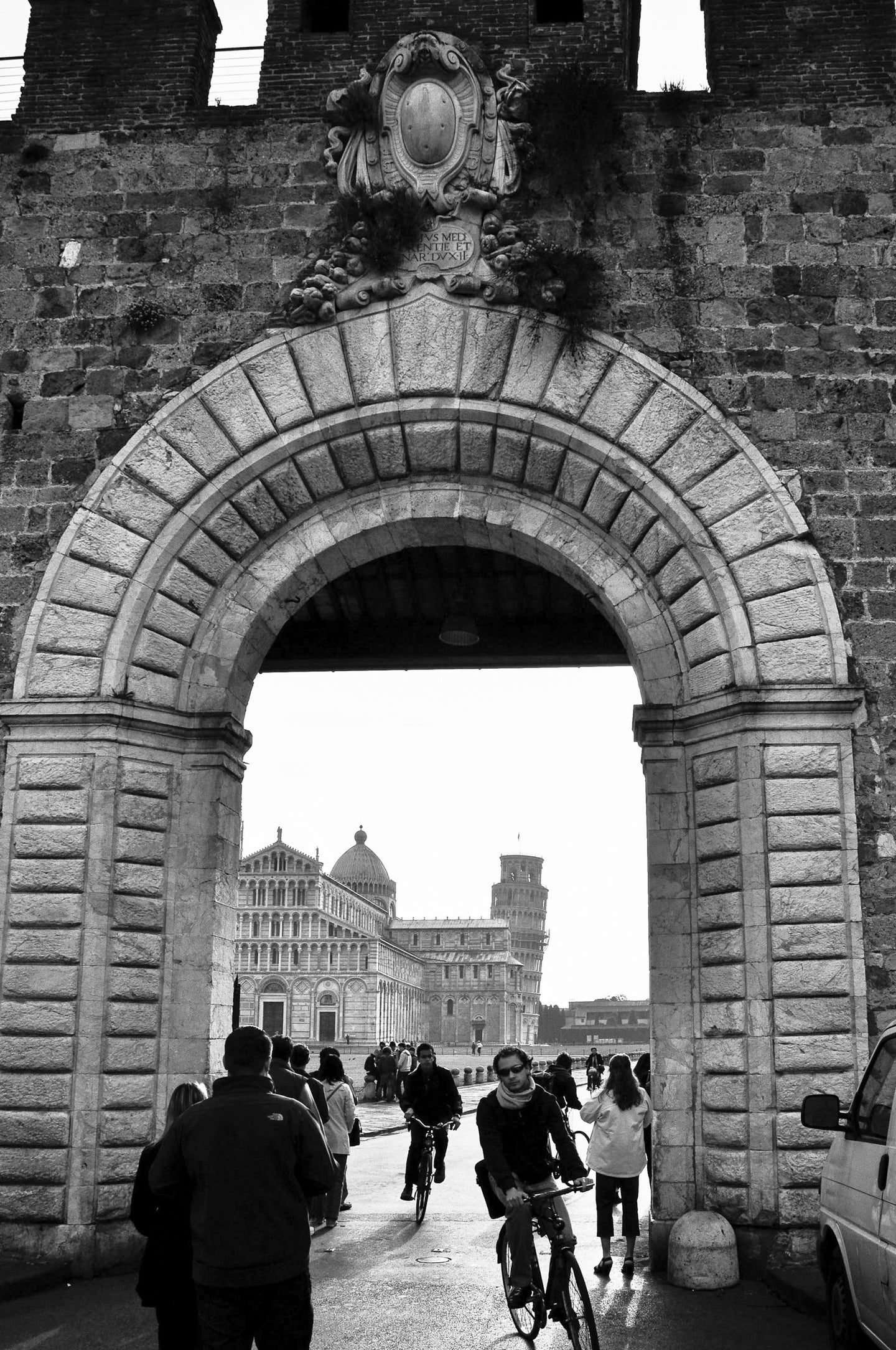 Doorway to Pisa - People In Italy